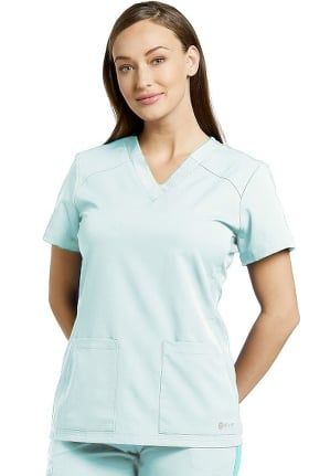 Clearance Fit by White Cross Women's V-Neck Soft Texture Solid Scrub Top