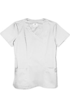 Allure by White Cross Women's Mock Wrap Solid Scrub Top