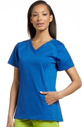 Clearance Allure by White Cross Women's V-Neck Side Stretch Panel Scrub Top