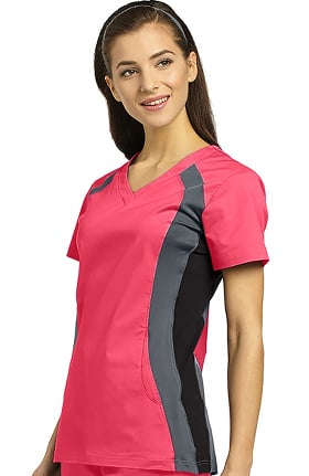 Clearance Allure by White Cross Women's V-Neck Side Panel Solid Scrub Top