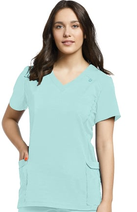 Fit by White Cross Women's Modern V-Neck Solid Scrub Top