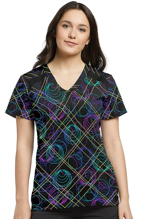 Fit by White Cross Women's V-Neck Geometric Print Top