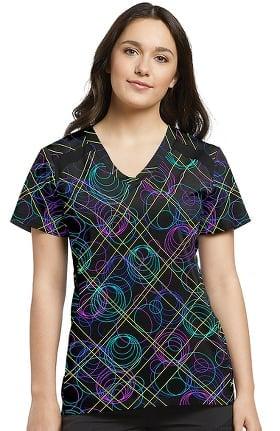 Fit by White Cross Women's V-Neck Geometric Print Top