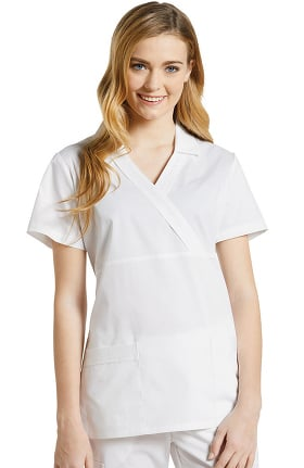 1c069572b657 Allure by White Cross Women's V-Neck Point Collar Solid Scrub Top