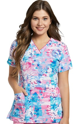 4e75374f88f Clearance Allure by White Cross Women's V-Neck Floral Print Scrub Top