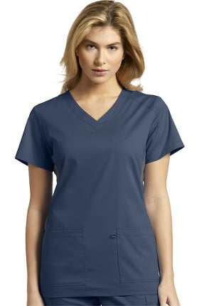 Allure by White Cross Women's Contrast Side Panel Solid Scrub Top