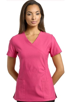 Clearance Inspire by White Cross Women's Mock Wrap Scrub Top