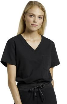V.Tess by White Cross Women's Side Vent V-Neck Solid Scrub Top