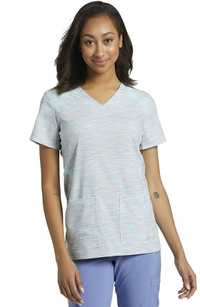Fit by White Cross Women's Fast Track Print Scrub Top