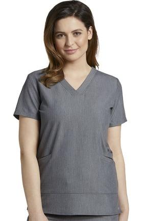 V.Tess by White Cross Women's Side Pocket V-Neck Solid Scrub Top