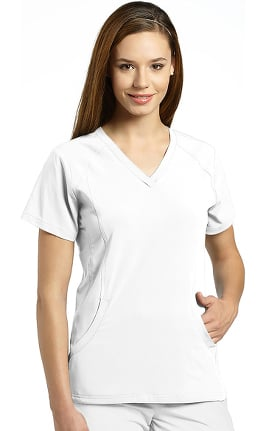 Clearance Marvella by White Cross Women's Stretch Side V-Neck Solid Scrub Top