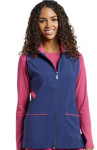 Fit By White Cross Women S Zip Front Tech Solid Scrub Vest
