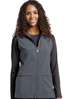 Fit by White Cross Women's Zip Front Tech Solid Scrub Vest