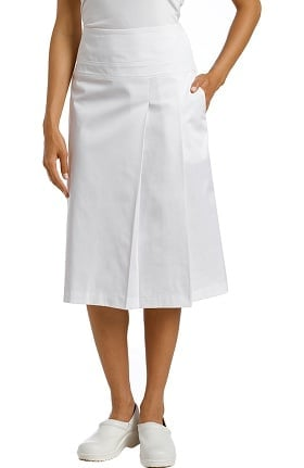 White Cross Women's Drop Waist Pleated Scrub Skirt