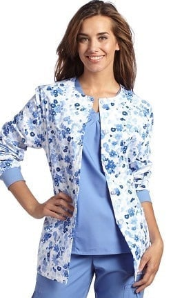 Allure by White Cross Women's Floral Print Warm Up Jacket