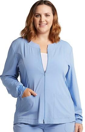 Marvella by White Cross Women's Jewel Neck Zip Front Scrub Jacket