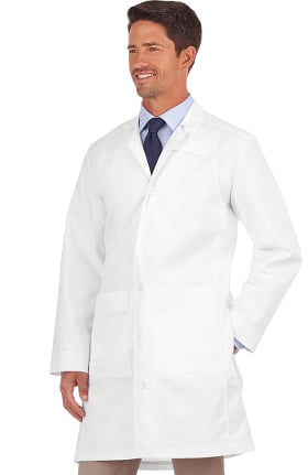 "Clearance META Labwear Men's 35"" Twill Trench Style Lab Coat"