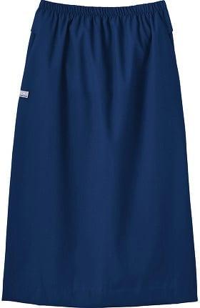 Fundamentals by White Swan Women's Elastic Waist Solid Scrub Skirt