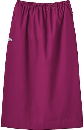 Clearance Fundamentals by White Swan Women's Elastic Waist Solid Scrub Skirt