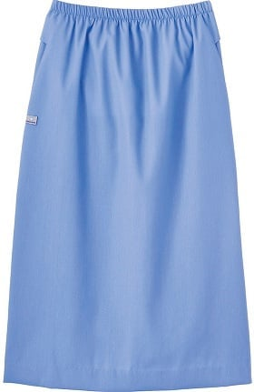 Clearance Fundamentals by White Swan Women's Elastic Waist Solid Scrub Skirt