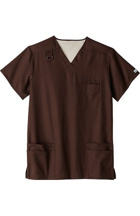 Clearance Fundamentals by White Swan Men's Everything Solid Scrub Top