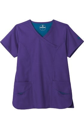 Clearance F3 Fundamentals by White Swan Women's Smiley Pocket Scrub Top