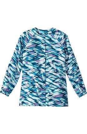 Clearance Bio Womens Abstract Print Warm Up Scrub Jacket