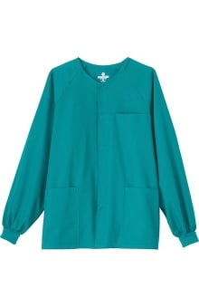 Fundamentals by White Swan Unisex Snap Front Solid Scrub Jacket