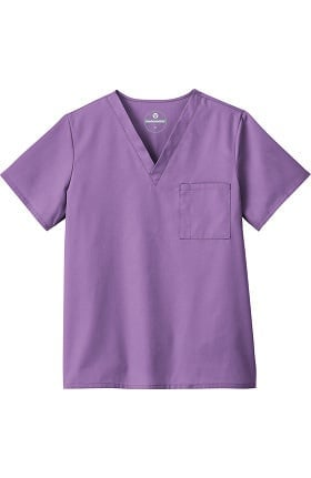 Clearance F3 Fundamentals by White Swan Unisex V-Neck Solid Scrub Top