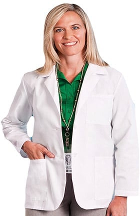 "Fundamentals by META Labwear Women's 3-Pocket Consultation 28"" Lab Coat"