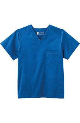 Clearance Bio Men's V-Neck Solid Scrub Top