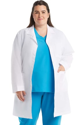 "META Labwear Women's Pleated-Back 37"" Lab Coat"