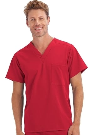 Clearance Classic Fit Collection by Jockey Scrubs Unisex 1 Pocket Tri Blend Solid Scrub Top