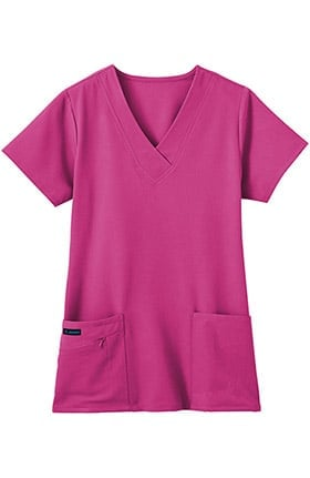 Clearance Classic Fit Collection by Jockey® Women's Tri Blend Solid Scrub Top