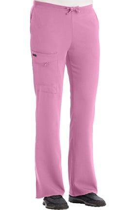 Classic Fit Collection by Jockey Women's Tri Blend Zipper Scrub Pants