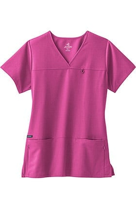 Clearance Classic Fit Collection by Jockey® Women's 6 Pocket Solid Scrub Top