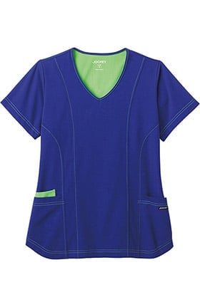 Modern Fit Collection by Jockey® Women's V-Neck Contrast Princess Scrub Top