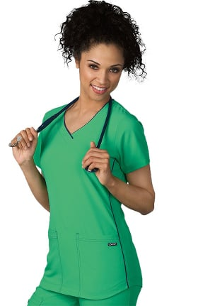 Clearance Classic Fit Collection by Jockey Women's Sporty V-Neck Scrub Top