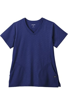 Clearance Classic Fit Collection by Jockey® Women's Solid Illusion™ V-Neck Solid Scrub Top