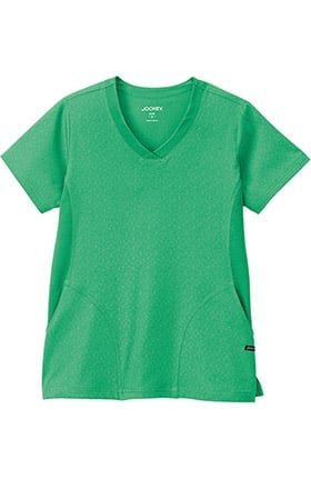 Clearance Classic Fit Collection by Jockey Women's Solid Illusion V-Neck Solid Scrub Top