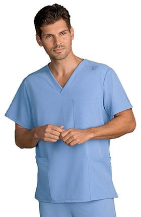 Clearance Classic Fit Collection by Jockey Unisex V-Neck Solid Scrub Top
