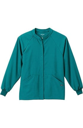 Clearance Classic Fit Collection by Jockey® Unisex Snap Front Warm Up Solid Scrub Jacket