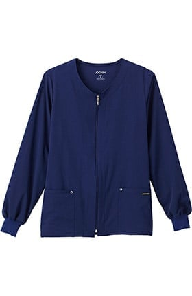 Classic Fit Collection by Jockey Women's V-Neck Zip Front Scrub Jacket