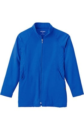 Clearance Classic Fit Collection by Jockey® Women's Quilted Zip Front Warm Up Solid Scrub Jacket