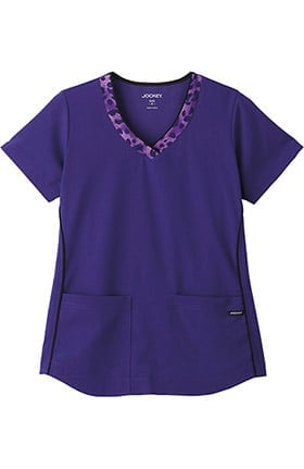 Clearance Classic Fit Collection by Jockey® Women's V-Neck Animal Print Scrub Top