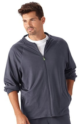 Clearance Modern Fit Collection by Jockey Men's Zip Front Fleece Solid Scrub Jacket