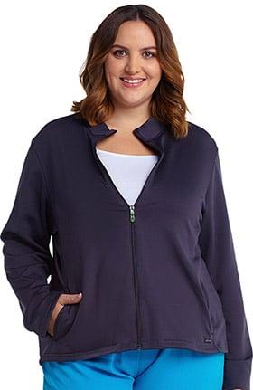 Modern Fit Collection by Jockey Women's Zip Front Fleece Lined Solid Scrub Jacket