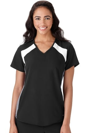 Modern Fit Collection by Jockey Women's V-Neck Colorblock Solid Scrub Top