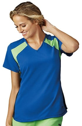 Modern Fit Collection by Jockey® Women's V-Neck Color Block Solid Scrub Top