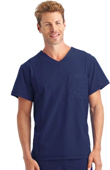 Performance Rx by Jockey Men's Performance RX V-Neck Mesh Tech Solid Scrub Top